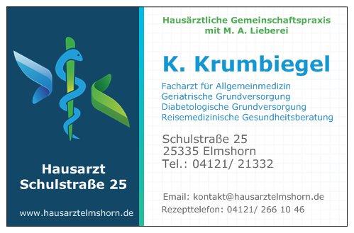 Kay Krumbigel - Facharzt für Allgemeinmedizin  Zusatzbezeichnungen: geriatrische Grundversorgung,diabetologische Grundversorgung,  reisemedizinische Gesundheitsberatung