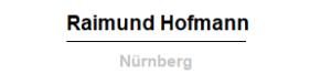 Raimund Hofmann - Nürnberg