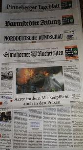 """Initiative """" Bitte mit Mundschutz"""" Zeitungsartikel"""
