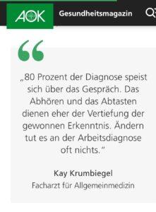 AOK Gesundheitsmagazin K. Krumbiegel