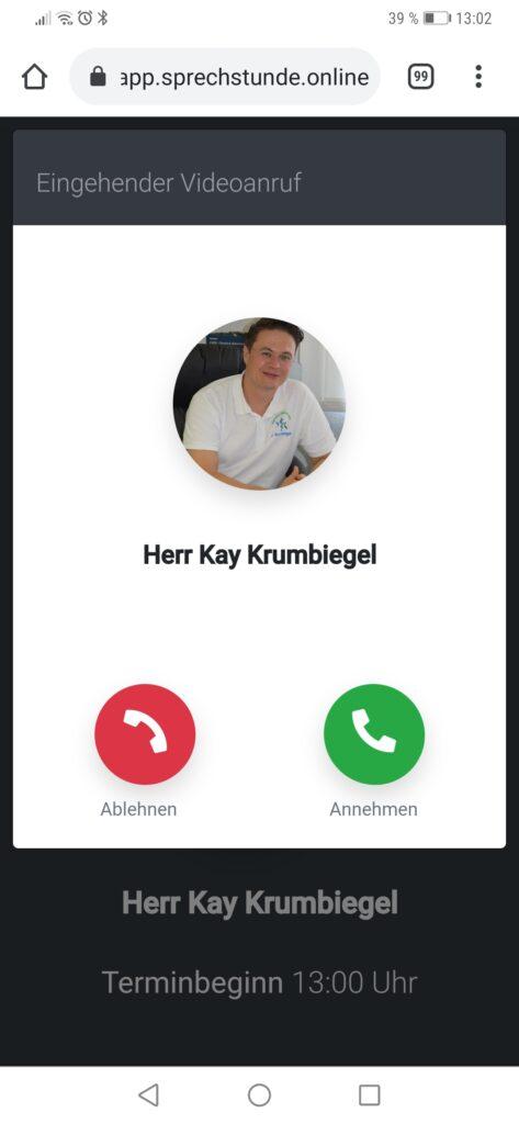 Videosprechstunde - Anruf